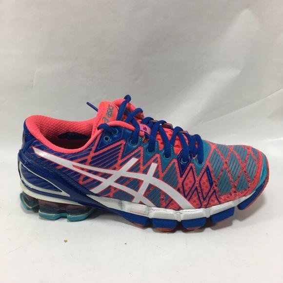 huge selection of e69fb ec51c Asics Shoes - Asics T3E9Y Gel Kinsei 5 Running Punch Blue white
